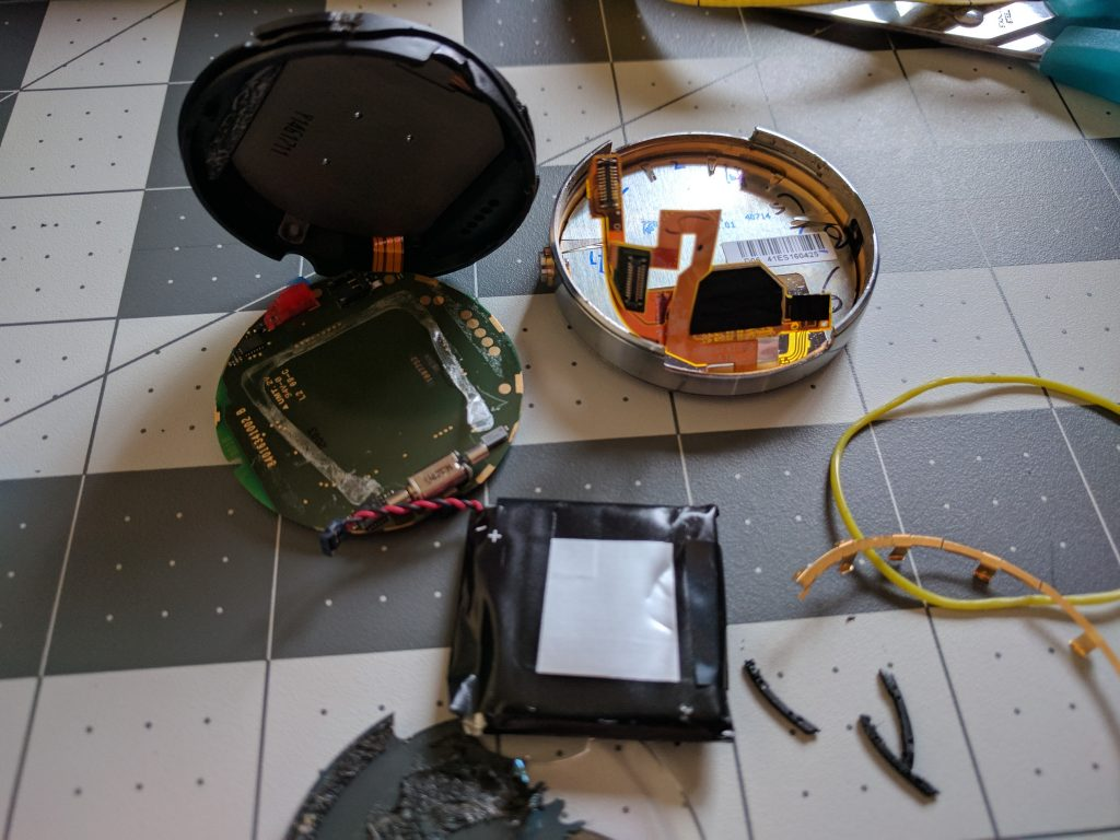 Moto 360 watch battery removal